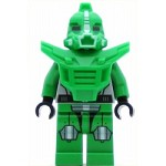 LEGO Space Minifigure Bright Green Robot Sidekick with Armor
