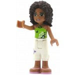 LEGO Friends Minifigure Friends Andrea, White Cropped Trousers, Lime Halter Neck Top
