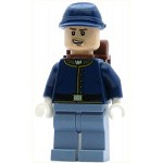 LEGO The Lone Ranger Minifigure Cavalry Soldier - Backpack, Brown Eyebrows, Crooked Open Smile, Beard