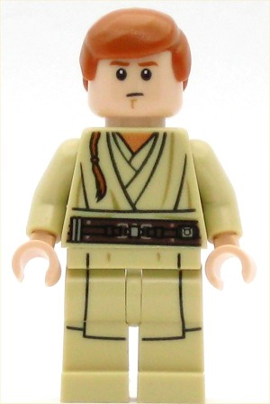 LEGO Star Wars Minifigure Obi-Wan Kenobi - Young, Printed Legs, without Cape (75169)