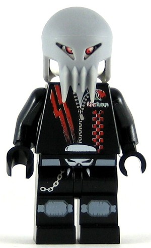 LEGO Space Minifigure Space Police 3 Alien Skull Twin