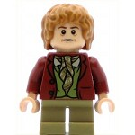 LEGO Hobbit and Lord of the Rings Minifigure Bilbo Baggins Dark Red Coat