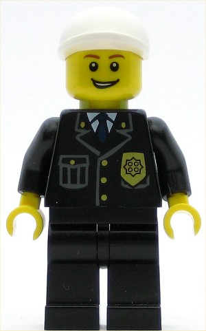 LEGO Town Minifigure Police City Suit with Blue Tie