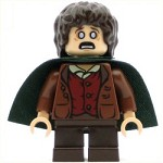LEGO Minifigure LOR Frodo Baggins Dark Green Cape