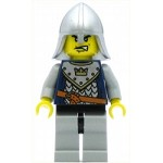 LEGO Minifigure Fantasy Era Crown Knight Scale Mail with Crown Helmet with Neck Protector Scar Across Lip