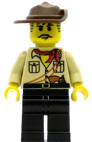 LEGO Adventurers Minifigure Johnny Thunder Desert