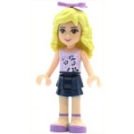 LEGO Friends Minifigure Friends Danielle, Dark Blue Layered Skirt, Lavender Top, Bow