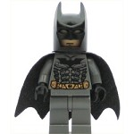 LEGO Batman Minifigure Batman Dark Bluish Gray Suit with Black Mask
