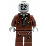 LEGO Monster Fighters Minifigure Zombie Reddish Brown Suit