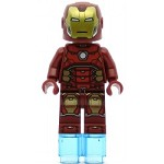LEGO Super Heroes Minifigure Iron Man with Silver Hexagon on Chest