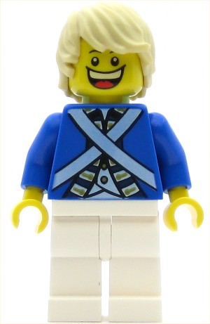 LEGO Pirates Minifigure Bluecoat Soldier 7 - Tousled Hair (Head 6123714)