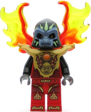 LEGO Legends of Chima Minifigure Gorzan - Armor Breastplate, Flame Wings