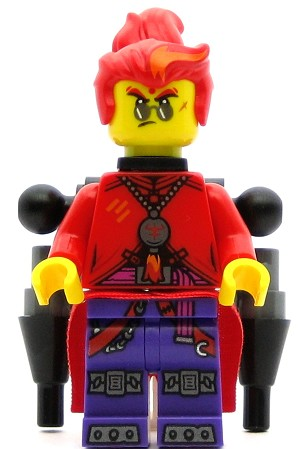 LEGO Monkie Kid Minifigure Red Son with Backpack