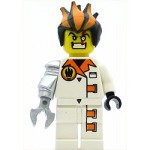 LEGO Agents Minifigure Dr. Inferno Pearl Light Gray Claw