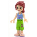 LEGO Friends Minifigure Mia Lime Cropped Trousers Light Blue Top
