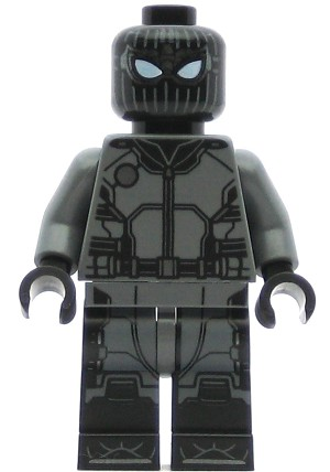 LEGO Super Heroes Minifigure Spider-Man Black and Gray Suit