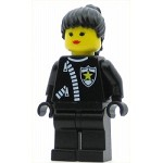 LEGO Town Minifigure Police Zipper with Sheriff Star Black Ponytail Hair