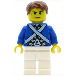 LEGO Pirates Minifigure Bluecoat Soldier 5 - Sweat Drops, Reddish Brown Hair