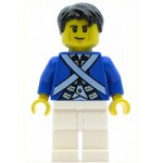 LEGO Pirates Minifigure Bluecoat Soldier 6 - Cheek Lines, Black Hair