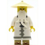 LEGO The LEGO Ninjago Movie Minfigure Sensei Wu - White Robe, Zori Sandals, The LEGO Ninjago Movie (70608)