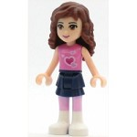 LEGO Friends Minifigure Olivia Dark Blue Layered Skirt Dark Pink Top