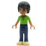 LEGO Friends Minifigure Friends Matthew, Dark Blue Trousers, Bright Green Polo Shirt