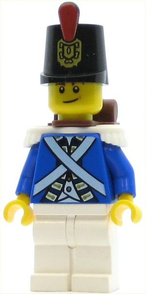LEGO Pirates Minifigure Bluecoat Soldier 2 - Lopsided Smile