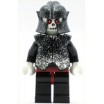 LEGO Minifigure Fantasy Era Skeleton Warrior 5 White Speckled Breastplate and Helmet Dark Red Hips and Black Legs
