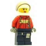 LEGO Town Minifigure Fire Pilot Female