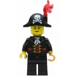 LEGO Pirates Minifigure Captain Bicorne Hat with Skull and Plume