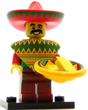 LEGO Collectible Minifigures The Movie Taco Tuesday Guy