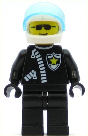 LEGO Town Minifigure Police Zipper with Sheriff Star