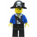 LEGO Pirates Minifigure Pirate Blue Jacket