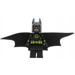 LEGO Super Heroes Minifigure Batman - Black Suit with Yellow Belt and Crest