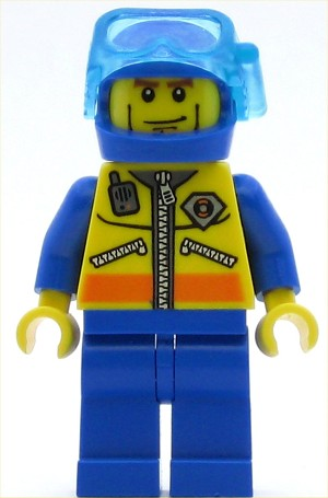 LEGO Minifigure Coast Guard City Diver 1