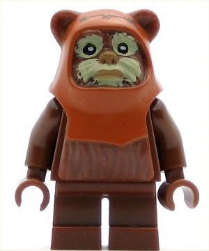 LEGO Star Wars Minifigure Wicket Ewok with Tan Face Paint Pattern
