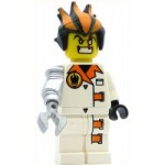 LEGO Agents Minifigure Dr. Inferno Metallic Silver Claw