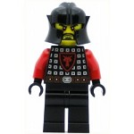 LEGO Castle Minifigure Castle - Dragon Knight Scale Mail with Dragon Shield, Cheek Protection Helmet, Black Beard, Sad Face