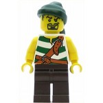 LEGO Pirates Minifigure Pirate Green White Stripes Bandana Goatee