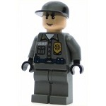 LEGO Batman I Minifigure Arkham Asylum Guard Light Flesh Head Black Cap