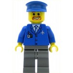 LEGO Town Minifigure Airport Blue