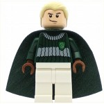 LEGO Harry Potter Minifigure Draco Malfoy Dark Green and White Quidditch Uniform