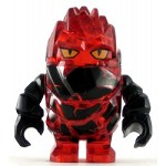 LEGO Power Miners Minifigure Rock Monster Infernox Trans-Red