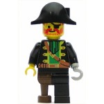 LEGO Pirates Minifigure Captain Red Beard with Pirate Hat