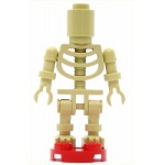 LEGO Minifigure Skeleton with Round Brick Head (Ninjago Bowling Pin)