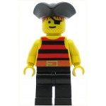 LEGO Pirates Minifigure Red Black Stripes Shirt Triangle Hat