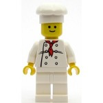 LEGO Town Minifigure Chef - White Torso with 8 Buttons, White Legs, Standard Grin