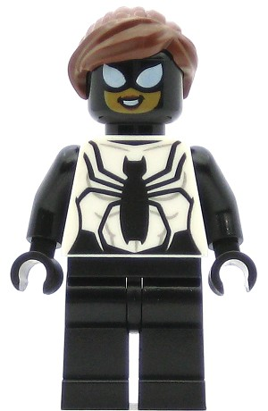 LEGO Spider-Man Minifigure Spider-Girl, Black and White
