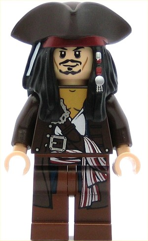 LEGO Pirates of the Caribbean Minifigure Captain Jack Sparrow with Tricorne