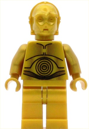 LEGO Star Wars Minifigure C-3PO Pearl Gold with Pearl Gold Hands